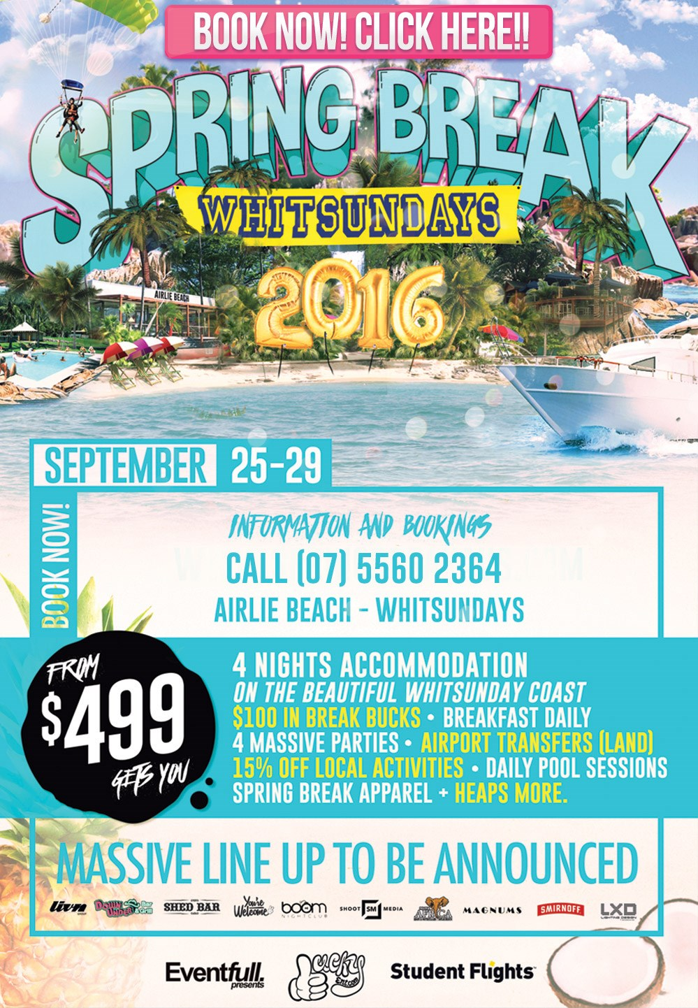 Spring Break Whitsundays 2016
