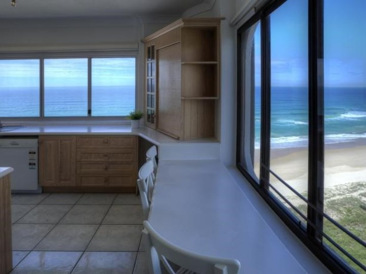 Kitchen and Beach View