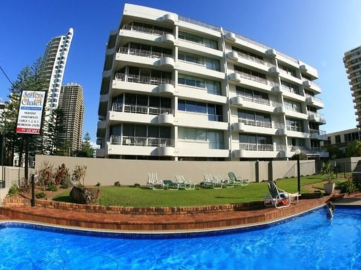 Surfers Chalet Apartments - Exterior and Pool Shot