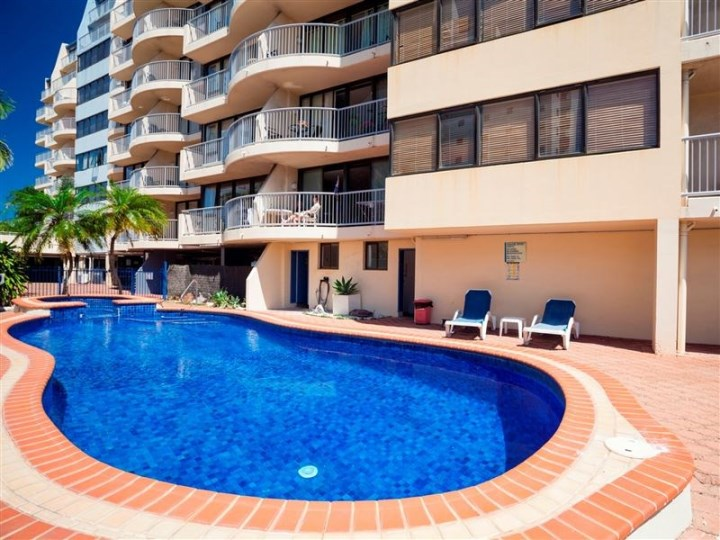 Broadbeach Travel Inn - Outdoor Pool Area
