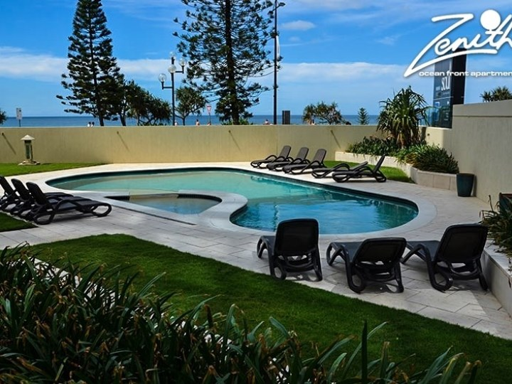 Zenith Oceanfront Apartments - Pool and Views
